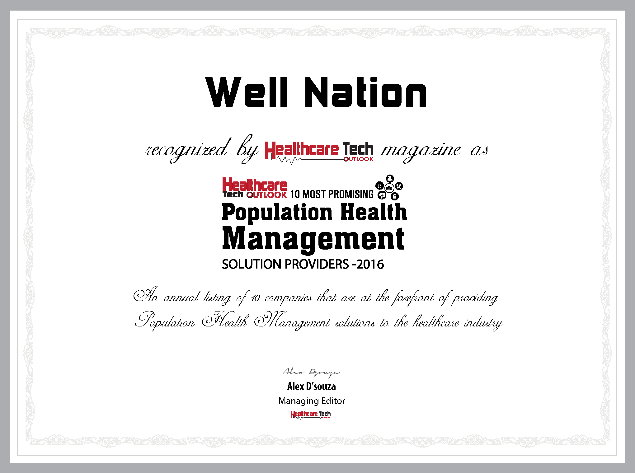 Well Nation- Certificate